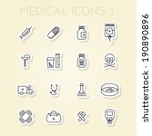 outlined medical icons set... | Shutterstock .eps vector #190890896