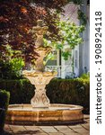 Ornate Water Fountain Without...