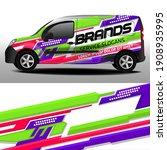 vector design of delivery van.... | Shutterstock .eps vector #1908935995