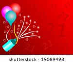 a twenty first birthday party... | Shutterstock .eps vector #19089493