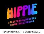 hippie style font design  1960s ...   Shutterstock .eps vector #1908958612