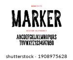 graffiti marker font design.... | Shutterstock .eps vector #1908975628