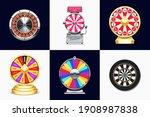 fortune wheels. casino roulette ...   Shutterstock .eps vector #1908987838