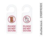 do not disturb sign. hotel door ...   Shutterstock .eps vector #1908990505