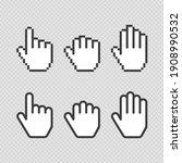 pixel cursors icons. vector...   Shutterstock .eps vector #1908990532