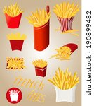 french fries | Shutterstock .eps vector #190899482