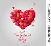 valentine's day sale background.... | Shutterstock .eps vector #1909005442