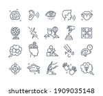collection of outline icons.... | Shutterstock .eps vector #1909035148