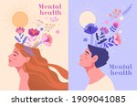 mental health  happiness ... | Shutterstock .eps vector #1909041085