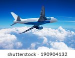 airplane over the clouds | Shutterstock . vector #190904132