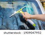 Car Wash Concept. Hand Clean...