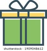 gift box vector icon. present...