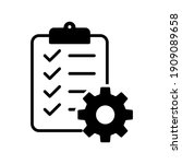 clipboard and gear icon....   Shutterstock .eps vector #1909089658