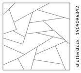 unusual abstract blank jigsaw... | Shutterstock .eps vector #1909096342
