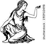 young woman  virgo astrological ...   Shutterstock .eps vector #190910498