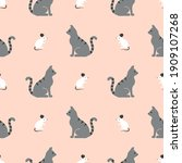 seamless vector pattern with... | Shutterstock .eps vector #1909107268