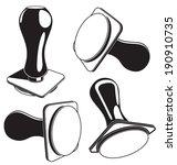 vector illustration of  stamp... | Shutterstock .eps vector #190910735
