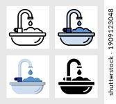 sinks icon vector design in...   Shutterstock .eps vector #1909123048