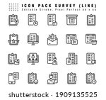 icon set of survey vector line...   Shutterstock .eps vector #1909135525
