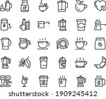 food line icon set   hot cup ... | Shutterstock .eps vector #1909245412