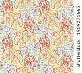 watercolor flower motif...   Shutterstock . vector #1909271665