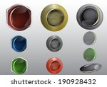 colorful glass web buttons | Shutterstock .eps vector #190928432