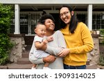 happy multiethnic family... | Shutterstock . vector #1909314025