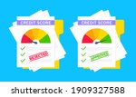 rejected and approved credit...   Shutterstock .eps vector #1909327588