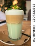 coffee in the morning. latte...   Shutterstock . vector #1909333918