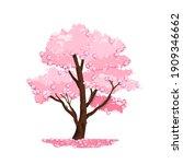 spring tree vector nature... | Shutterstock .eps vector #1909346662