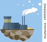 manufacture pollutes atmosphere.... | Shutterstock .eps vector #1909359442