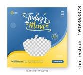 food menu banner social media... | Shutterstock .eps vector #1909363378