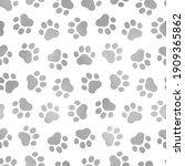 seamless pattern pet prints....   Shutterstock .eps vector #1909365862