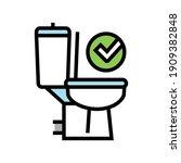 good bowel movement  restroom... | Shutterstock .eps vector #1909382848