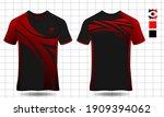sport shirt template set  t... | Shutterstock .eps vector #1909394062