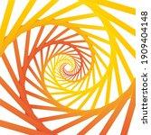 abstract illusion orange spiral ...   Shutterstock .eps vector #1909404148