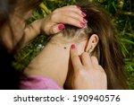 people looking at wood tick... | Shutterstock . vector #190940576
