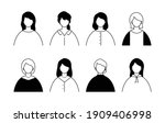 a set of simple avatar icons of ... | Shutterstock .eps vector #1909406998