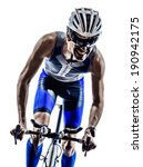 man triathlon iron man athlete... | Shutterstock . vector #190942175