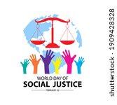 world social justice day vector ... | Shutterstock .eps vector #1909428328