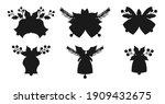 christmas bell black silhouette ... | Shutterstock .eps vector #1909432675