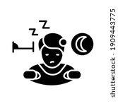 Sleepwalking Glyph Icon. Sleep...