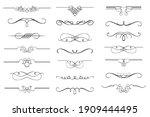 vector set of calligraphic... | Shutterstock .eps vector #1909444495