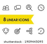 commerce icons set with clock ...