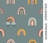 seamless childish pattern with... | Shutterstock .eps vector #1909457425