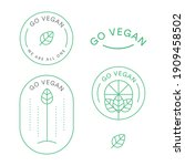 vegan logo bundle pack health... | Shutterstock .eps vector #1909458502