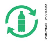 recycle plastic logo icon ... | Shutterstock .eps vector #1909465855