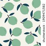 seamless pattern of green lime...   Shutterstock .eps vector #1909471582