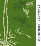 green asian bamboo background | Shutterstock . vector #190949726