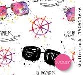 watercolor seamless pattern... | Shutterstock .eps vector #190951676